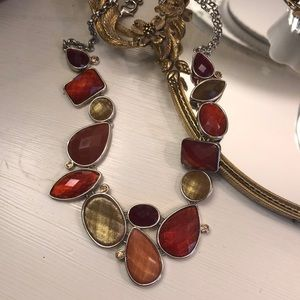 Fall tone jeweled necklace
